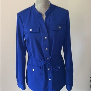 Stunning Peck & Peck Royal Blue Top